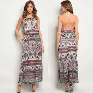 Backless Maxi dresses, boho summer dress sleeveles